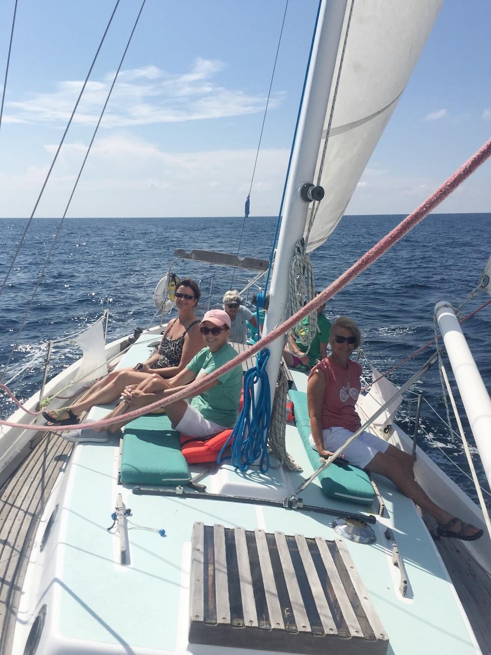 fall break, Destin florida,  sailing, sailboat, private sailing cruise, fair winds sailing co