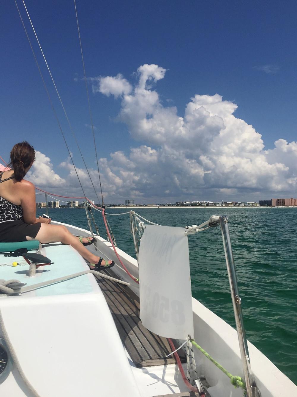 fall break, Destin florida, sailing, sailboat, private sailing cruise, fair winds sailing co, gulf of mexico, emerald coast