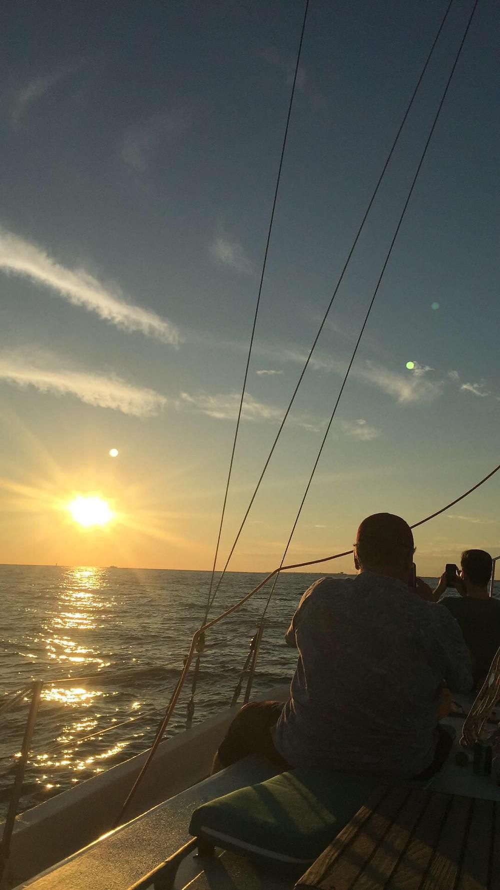 fall break, Destin florida, sunset, sailing, sailboat, private sailing cruise, fair winds sailing co, gulf of mexico, emerald coast