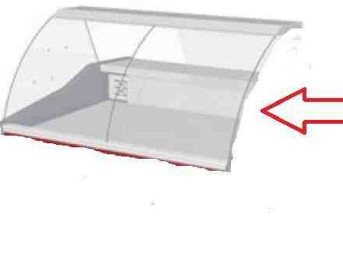 Переднее (фронтальное) стекло для холодильных витрин модели Криспи