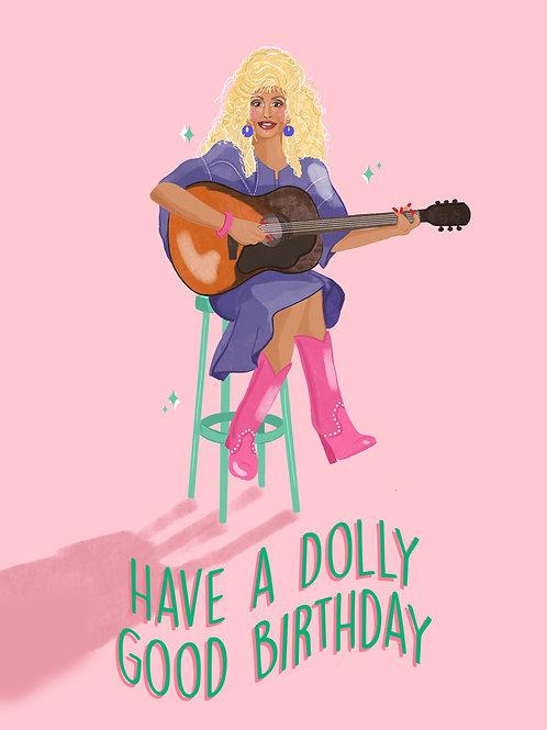Dolly Parton Birthday Card