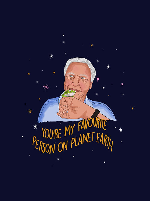 David Attenborough Greeting Card
