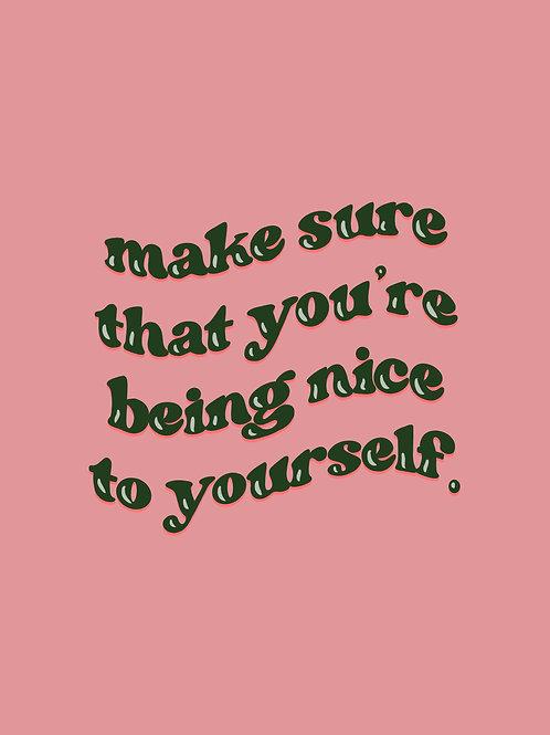 Be Nice to Yourself Postcard