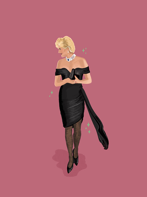 Princess Diana Revenge Dress Print