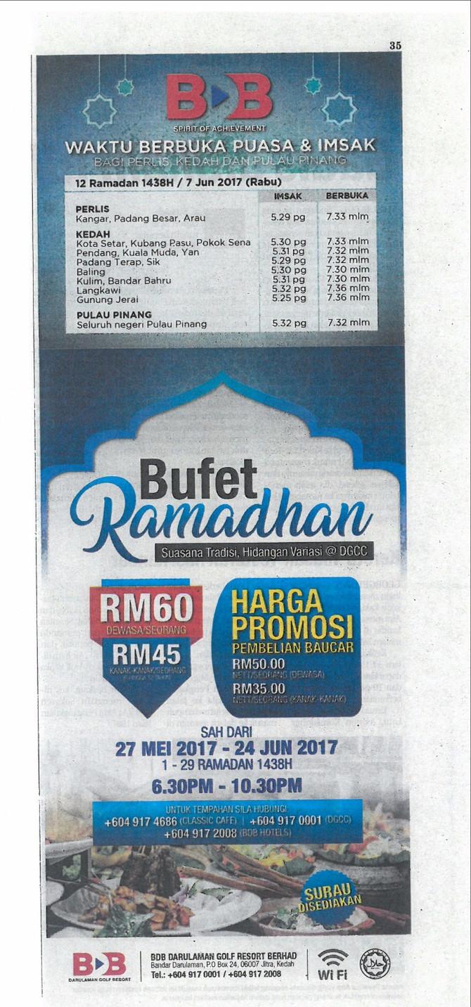 BUFET RAMADHAN DGRB -Sinar Harian