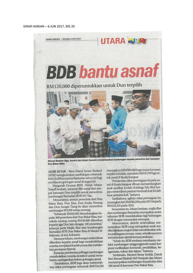 BDB BANTU ASNAF - Sinar Harian