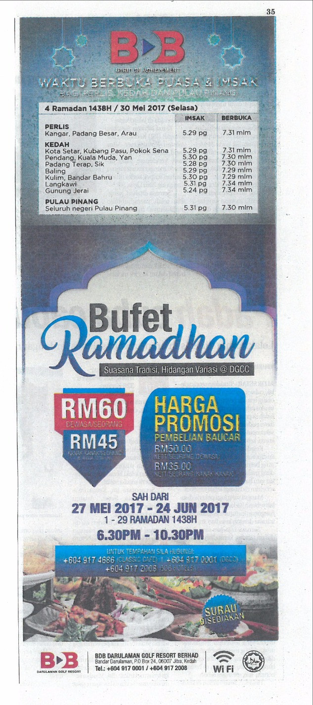 BUFET RAMADAN CLASSIC CAFE- Sinar Harian