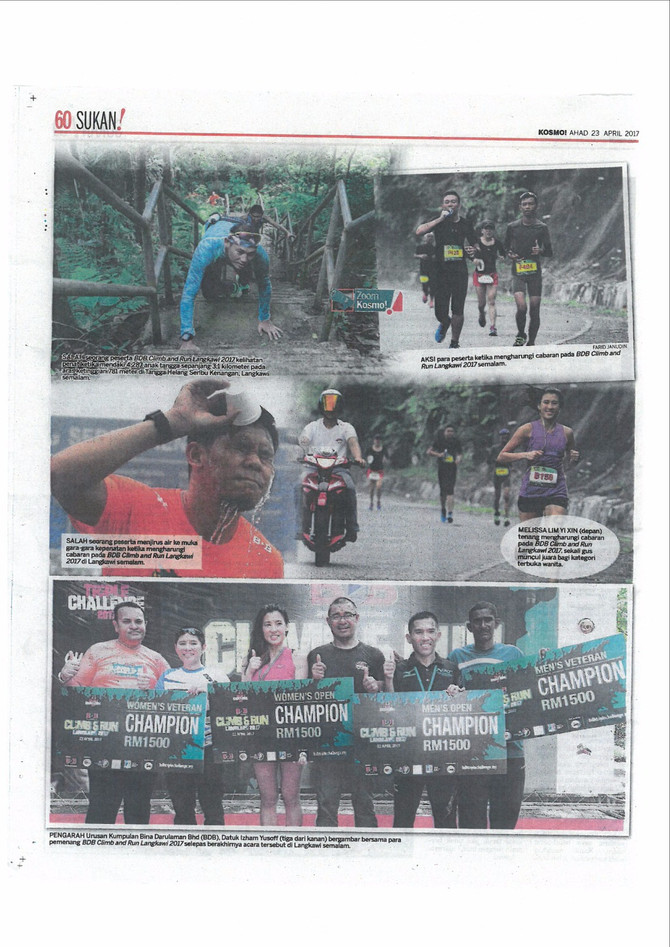 AFFINDI JUARA BDB CLIMB AND RUN 2017 - KOSMO