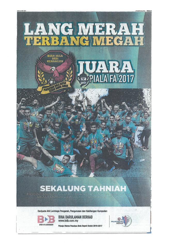 LANG MERAH TERBANG MEGAH - UTUSAN MALAYSIA