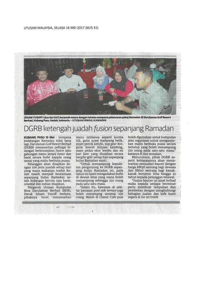 DGRB KETENGAH JUADAH FUSION SEPANJANG RAMADHAN - UTUSAN MALAYSIA