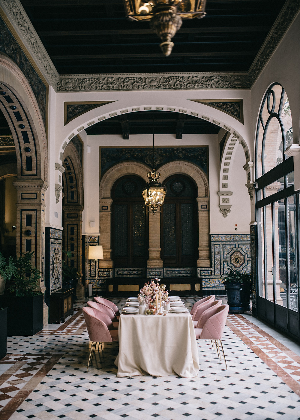 Almuerzo en Hotel Alfonso XIII - Editorial Weddings With Love
