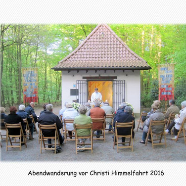 Abendwanderung vor Christi Himmelfahrt - hier Sieben Schmerzen Kapelle
