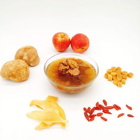 猴頭菇乾貝螺片蘋果燉瘦肉
