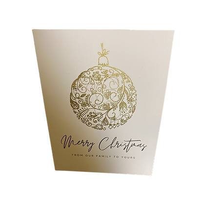 Merry Christmas: From our Family to Yours Greeting Cards, Pack of 10