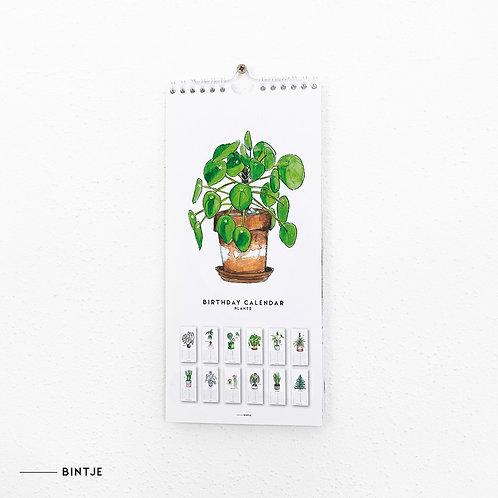 Verjaardags kalender planten