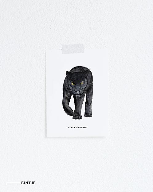 Postcard Zwarte panter