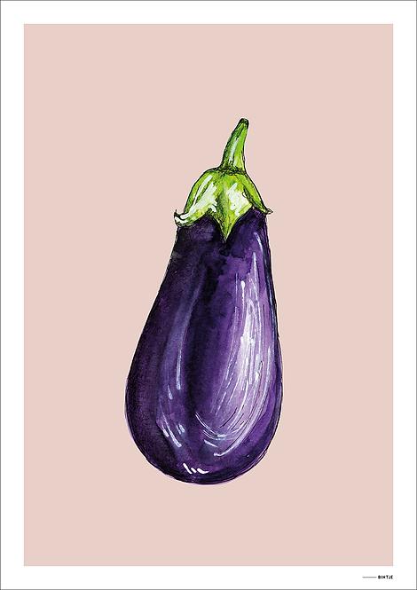 Poster Food Aubergine 15x20