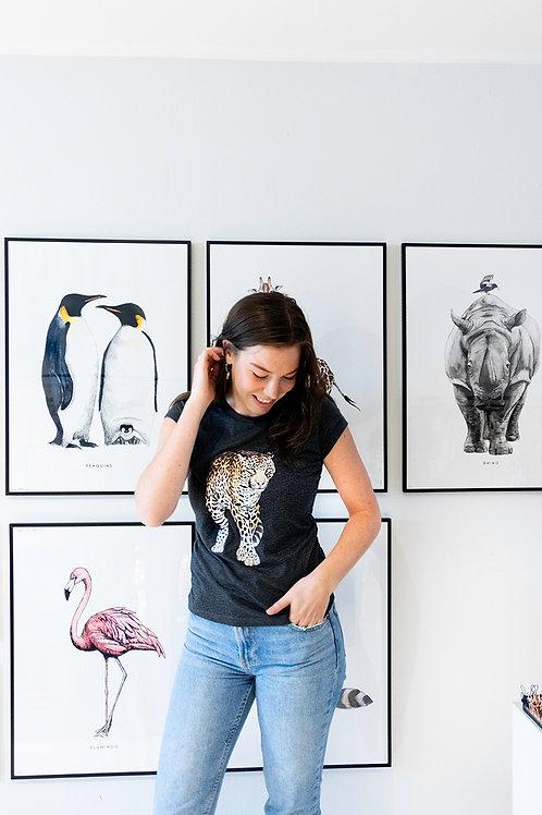 T-shirt Luipaard