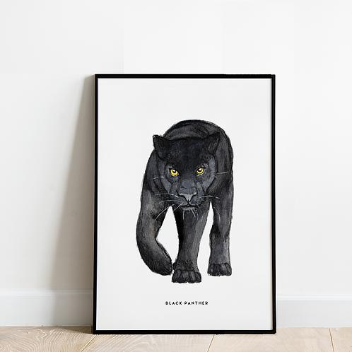 Poster Zwarte panter 30x40