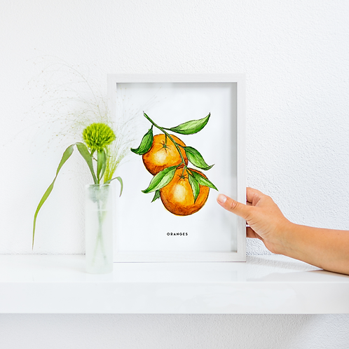 Poster Oranges A4