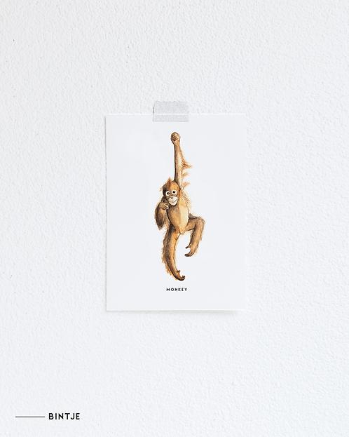 Postcard hangende Aap
