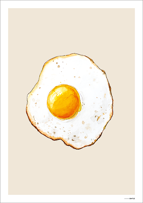 Poster Food Eitje 15x20