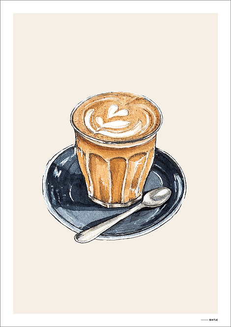 Poster Food Cappuccino 15x20