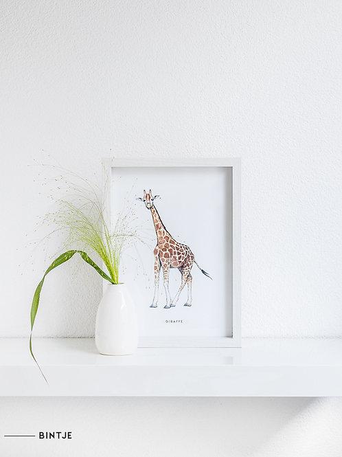 Poster Giraf A4