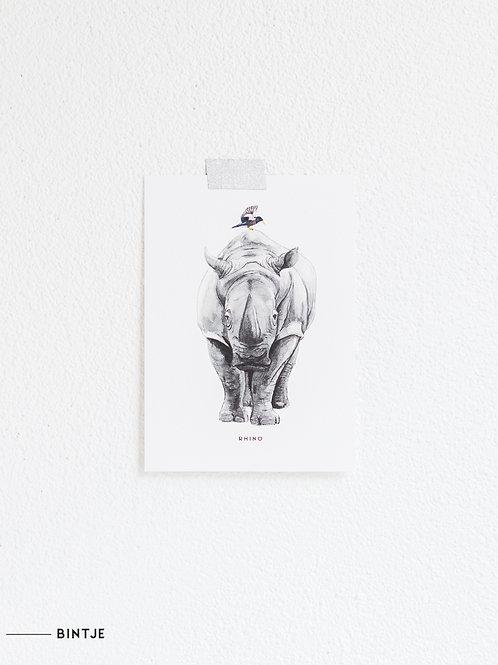 Postcard Neushoorn