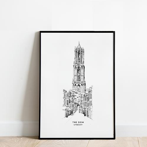 Poster de Domtoren in Utrecht 30x40