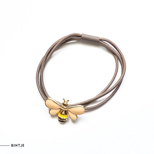 Bijen armband - haarelastiek