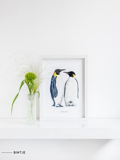 Poster Pinguins A4