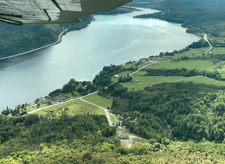 Vue aérienne Camping Mauricie