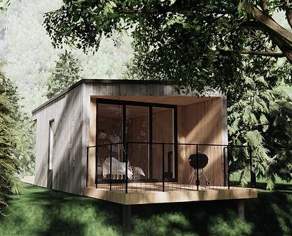 Vue extérieur d'un Micro-refuge pret à camper.jpg