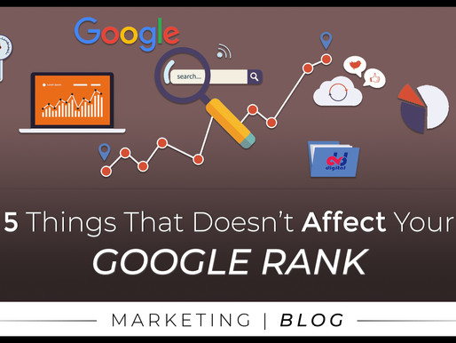 5 Things That Doesn't Affect Your Google Rank