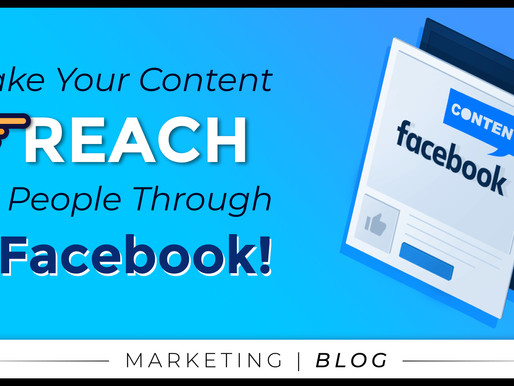 Make Your Content Reach More People Through Facebook!