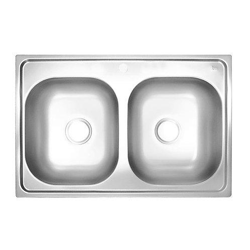 "Tarja Empotre Teka 840.560 2C (33.22) 7"" 1 PERF de 84 cm (33"") Doble Acero Inox"