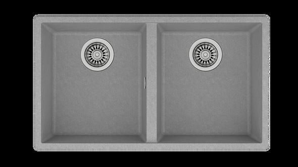 Tarja Submontar de Dos Cubetas Teka SQUARE 760 TG SG Tegranite+ Gris 76 cm