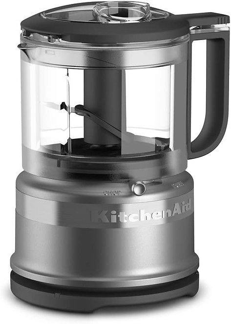 Mini Procesador de Alimentos de 3.5 Tazas KitchenAid KFC3516CU Plata
