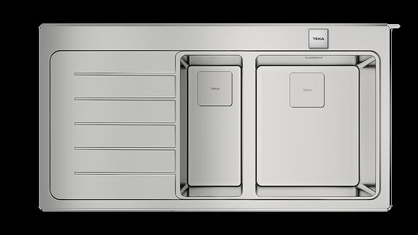 Tarja Cubetas y Escurridor Montaje Dual Teka ZENIT RS15 1 1/2C 1E IZQ Acero Inox