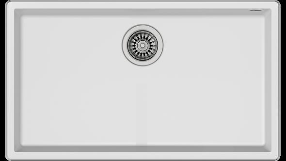 "Tarja Submontar Teka SQUARE 72.40 TG W Tegranite+ de 76 cm (30"") Sencilla Blanco"