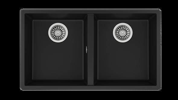 Tarja Submontar de Dos Cubetas Teka SQUARE 760 TG B Tegranite+ Negra 76 cm