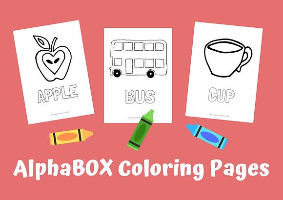 26 Alphabet Coloring Page Set