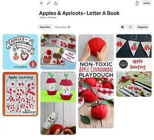 Apples and Apricots Pinterest board