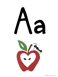 Letter A Flash Card