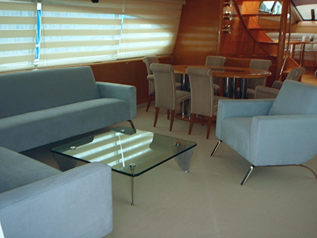 Living room in a yacht