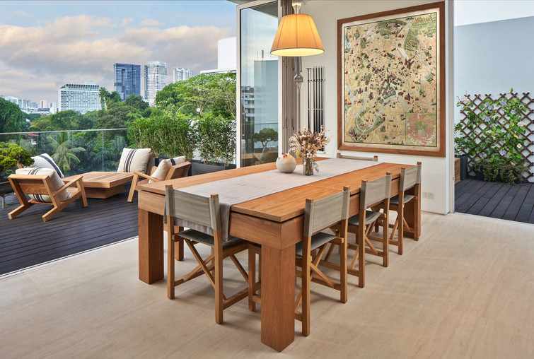 Multifunction table can be used as a dining or pool table