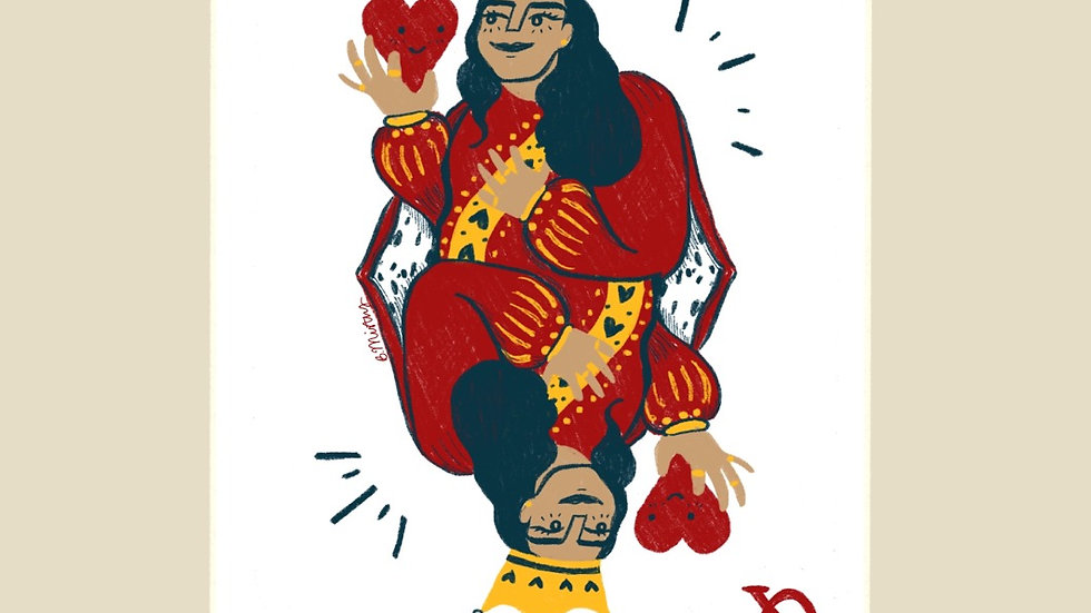 Queen of my Heart A6 Card