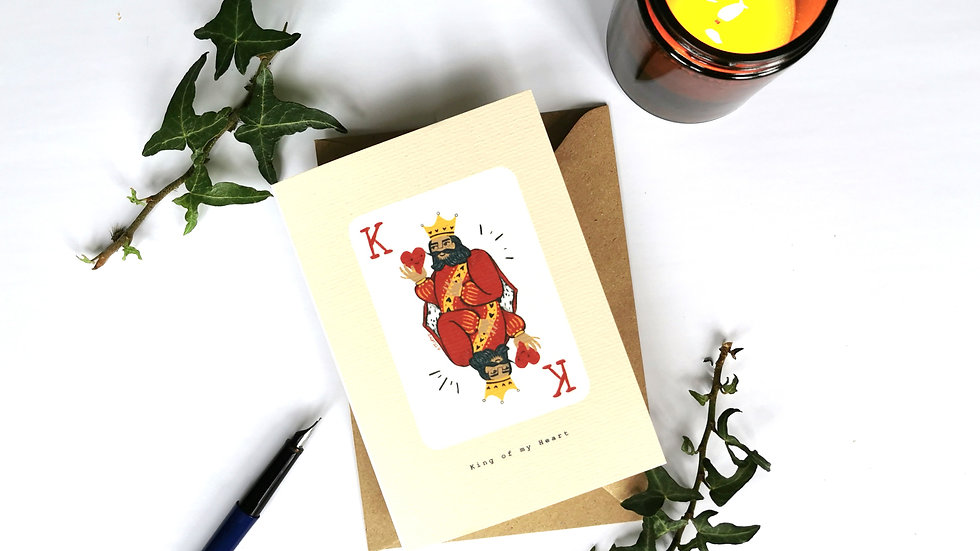 King of my Heart A6 Card