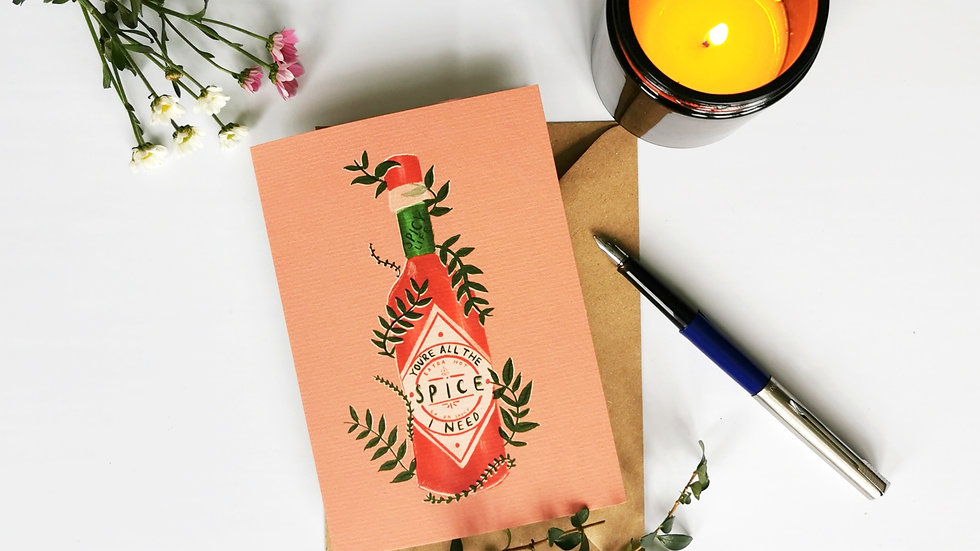 Spicy Life A6 Card